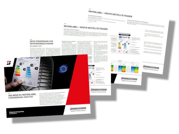 Auf vier Seiten hat Bridgestone in einer zum Herunterladen angebotenen PDF-Datei Wissenswertes rund ums neue Reifenlabel zusammengestellt (Bild: Bridgestone)