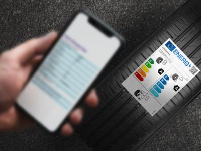 Dank des QR-Codes auf dem neuen Reifenlabel können Verbraucher die individuellen Reifendaten zusätzlich aus einer EU-Datenbank herunterladen (Bild: Continental)