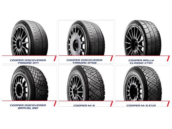 Für die insgesamt sieben Läufe der British Rally Championship stellt Cooper den Teilnehmern sechs verschiedene Profile in alles in allem 19 unterschiedlichen Größen für Felgendurchmesser von 13 bis 18 Zoll zur Verfügung (Bild: Cooper Tire)