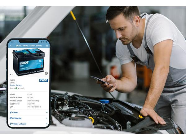 """Mittels Exides """"Battery Finder"""" sollen sich die """"bedarfsgerechte Batterie schnell und bequem ermitteln"""" lassen (Bild: Exide Technologies)"""