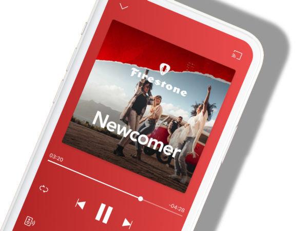"""Gemeinsam wollen Firestone und Deezer mit der neuen """"Newcomer""""-Playlist, die mit fast 60 Songs mehr als drei Stunden Musik umfasst und jeden Monat aktualisiert werden soll, aufstrebende Künstler unterstützen (Bild: Firestone)"""