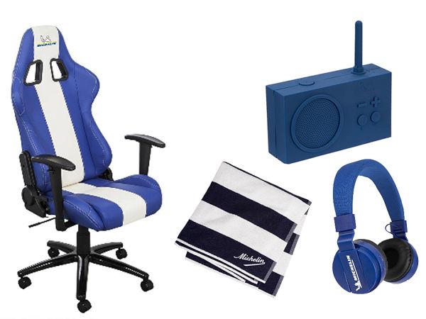 Wer richtig vorherzusagen weiß, welcher deutsche Nationalspieler bei dem morgigen Spiel das erste Tor gegen England schießt, kann einen Schreibtischstuhl, eine Bluetooth-Box, einen Bluetooth-Kopfhörer oder ein Handtuch jeweils im Michelin-Design gewinnen (Bild: Reifen Göggel)