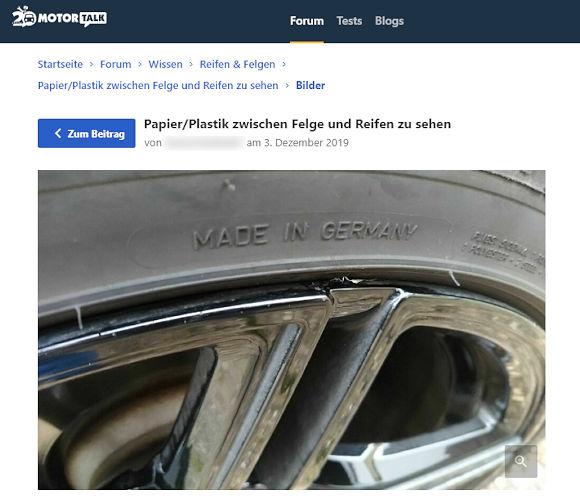 ... deren Entfernung auch unter Autofahrern vor Jahren schon ein Thema gewesen ist beispielsweise im Forum von Motor-Talk (Bild: Screenshot)