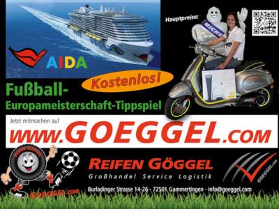 Hauptpreise des Gewinnspiels von Großhändler Reifen Göggel sind zwar eine Urlaubsreise mit einem Schiff aus der Aida-Flotte oder eine Vespa Elettrica, aber ausgelobt sind alles in allem mehr als 500 Preise im Gesamtwert von über 30.000 Euro (Bild: Reifen Göggel)