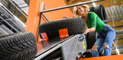 Auch Reifen sind bei Automechanika ein Thema – ob die eine oder die andere Art (Bild: Messe Frankfurt/Pietro Sutera)