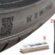 Per Laser in die Seitenwand eingravierte QR-Codes (1) oder RFID-Chips (2) sind zu Wulstetiketten (3) alternative Möglichkeiten, Reifen individuell zu kennzeichnen (Bilder: 4Jet Technologie, NRZ/Arno Borchers, Computype)