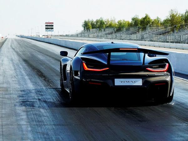 """Mit Launch Control soll der elektrisch angetriebene Nevera des kroatischen Herstellers Rimac ausgestattet mit Michelin-Standardreifen des Typs """"Pilot Sport 4S"""" eine Viertelmeile in 8,582 Sekunden absolviert und am Ende der Strecke 268,94 km/h schnell gewesen sein (Bild: Rimac Automobili)"""