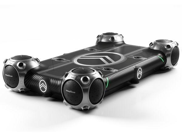 """Für Citroëns Vision einer elektrische angetriebenen autonomen Fahrzeugplattform hat Goodyear eigenen Worten zufolge einen maßgeschneiderten Prototyp seines kugelförmigen Konzeptreifens """"Eagle 360"""" entwickelt (Bild: Goodyear)"""