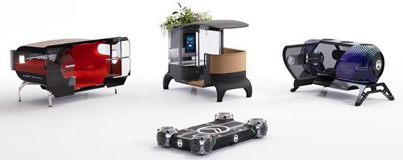 """Die """"Skate"""" genannte Fahrzeugplattform soll je nach Einsatzzweck mit verschiedenen """"Pods"""" bzw. Aufbauten versehen werden können (Bild: Goodyear)"""