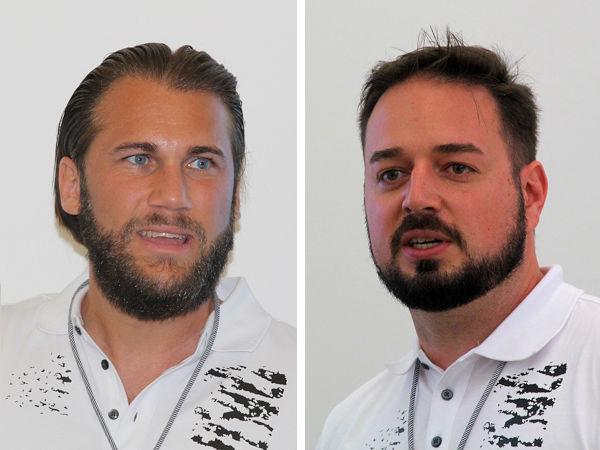 """Sie sind zwei der """"Väter"""" hinter Contis neuem """"SportContact 7"""": Marcel Neumann (links) und Philipp Mendelski, Project Engineer BF-UHP respektive Product Manager UUHP Tires bei dem Reifenhersteller (Bilder: NRZ/Christian Marx)"""