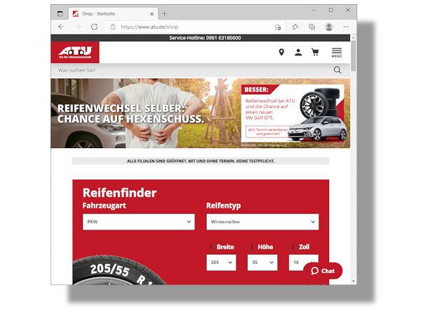 """Das Motto von ATUs derzeitiger, auch übers Radio beworbener (Umrüst-)Aktion ist """"Chance auf einen neuen VW Golf GTE"""" statt """"Chance auf Hexenschuss"""" (Bild: ATU)"""