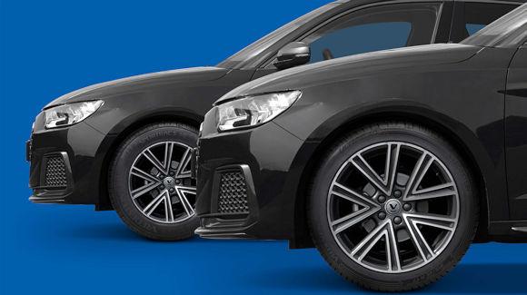 """Für ausgewählte Modelle von Audis A1 Sportback liefert Apollo Tyres die Sommerreifen """"Ultrac"""" und """"Sportrac"""" seiner Marke Vredestein als Erstausrüstung ans Band: in ersterem Fall in 215/45 R17 W bzw. im anderen in 185/65 R15 V (Bild: Apollo Tyres)"""