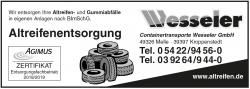 Wesseler - Altreifenentsorgung
